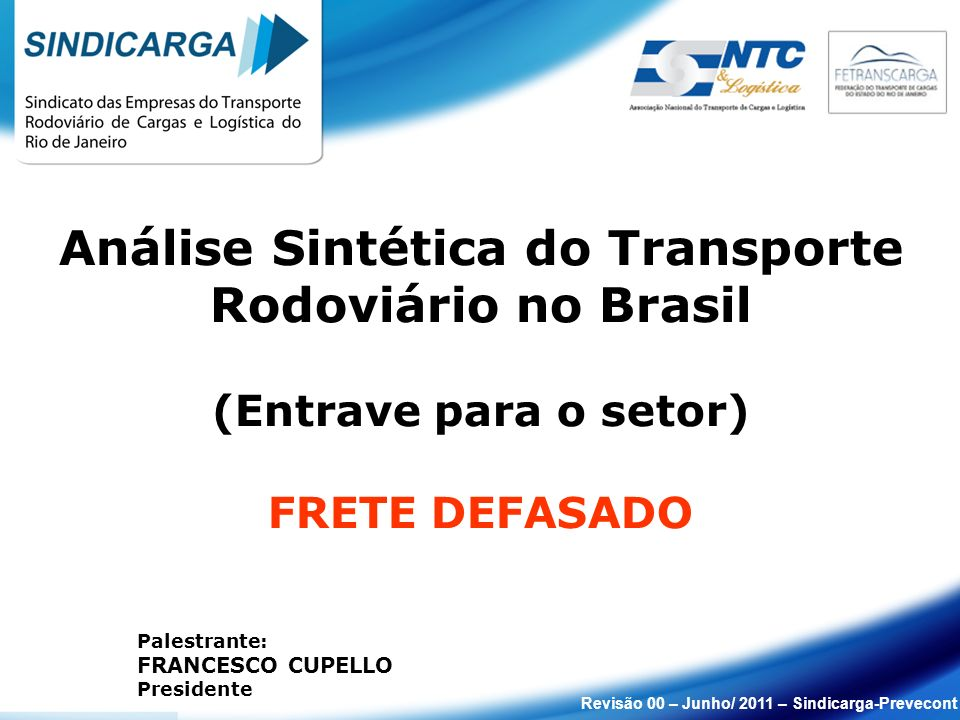 Análise Sintética do Transporte Rodoviário no Brasil