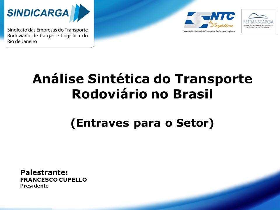 Análise Sintética do Transporte Rodoviário no Brasil (Entraves para o Setor)