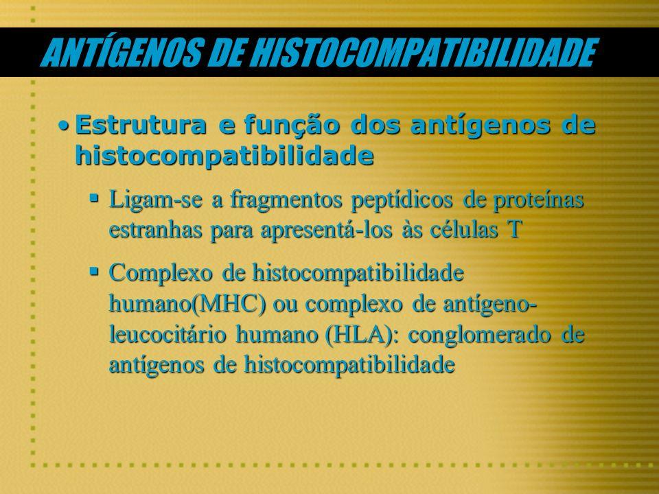 ANTÍGENOS DE HISTOCOMPATIBILIDADE