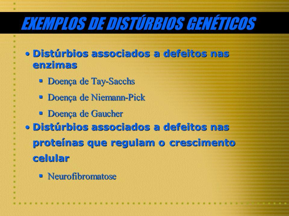 EXEMPLOS DE DISTÚRBIOS GENÉTICOS