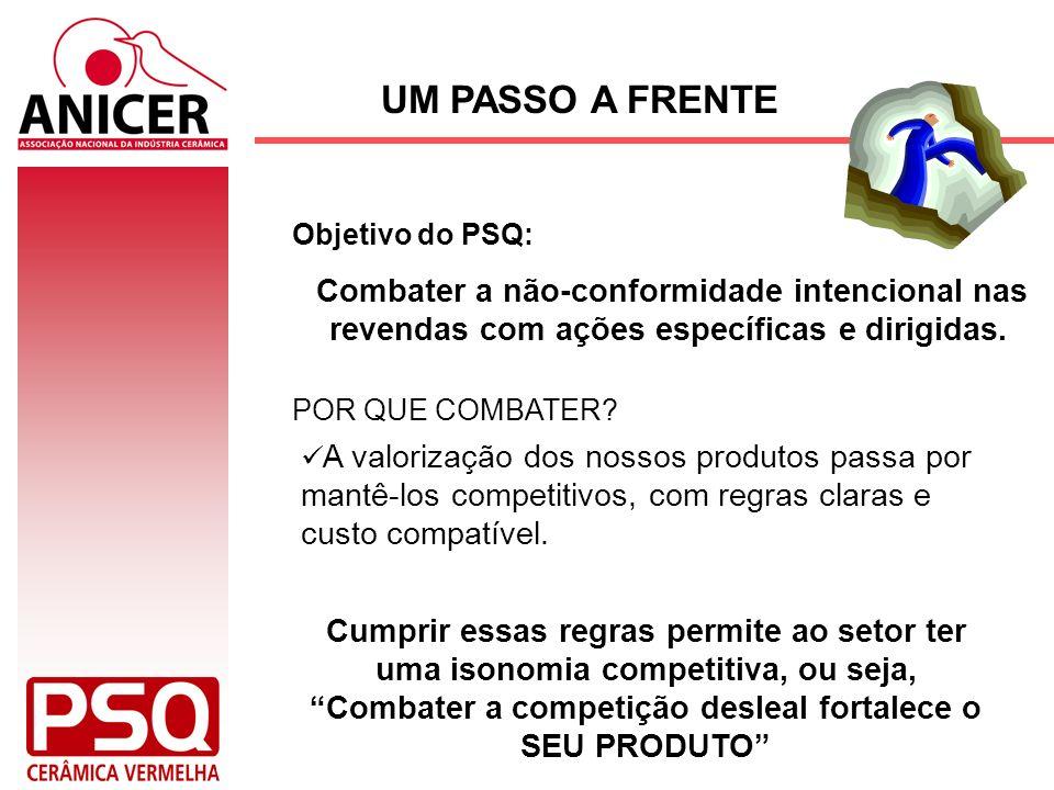 UM PASSO A FRENTEObjetivo do PSQ: Combater a não-conformidade intencional nas revendas com ações específicas e dirigidas.