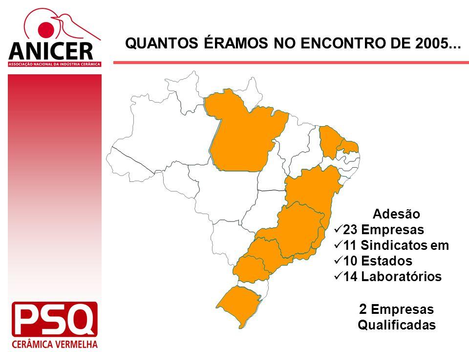 QUANTOS ÉRAMOS NO ENCONTRO DE 2005... 2 Empresas Qualificadas