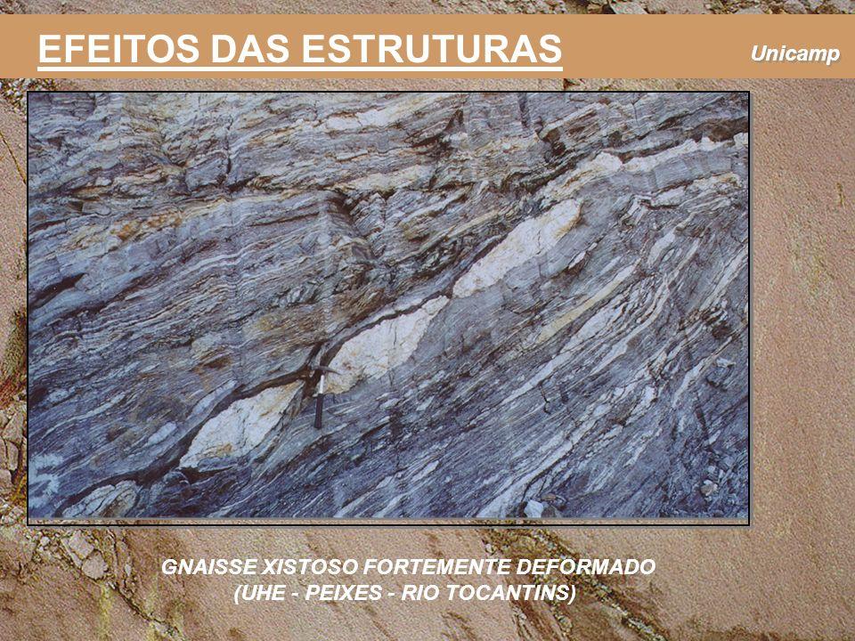 GNAISSE XISTOSO FORTEMENTE DEFORMADO (UHE - PEIXES - RIO TOCANTINS)