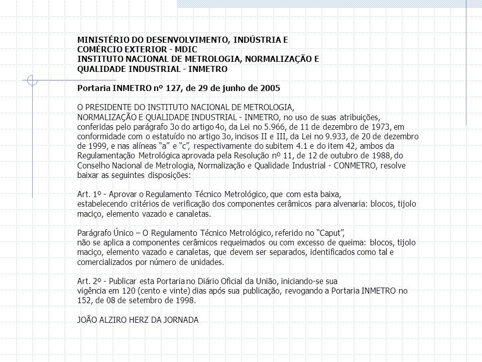 MINISTÉRIO DO DESENVOLVIMENTO, INDÚSTRIA E