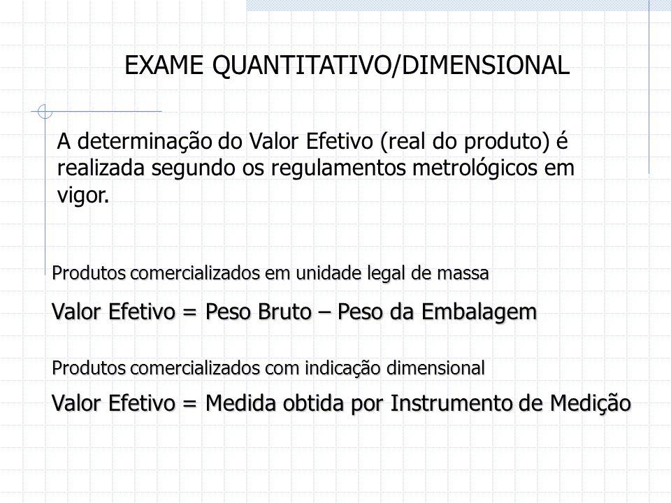 EXAME QUANTITATIVO/DIMENSIONAL