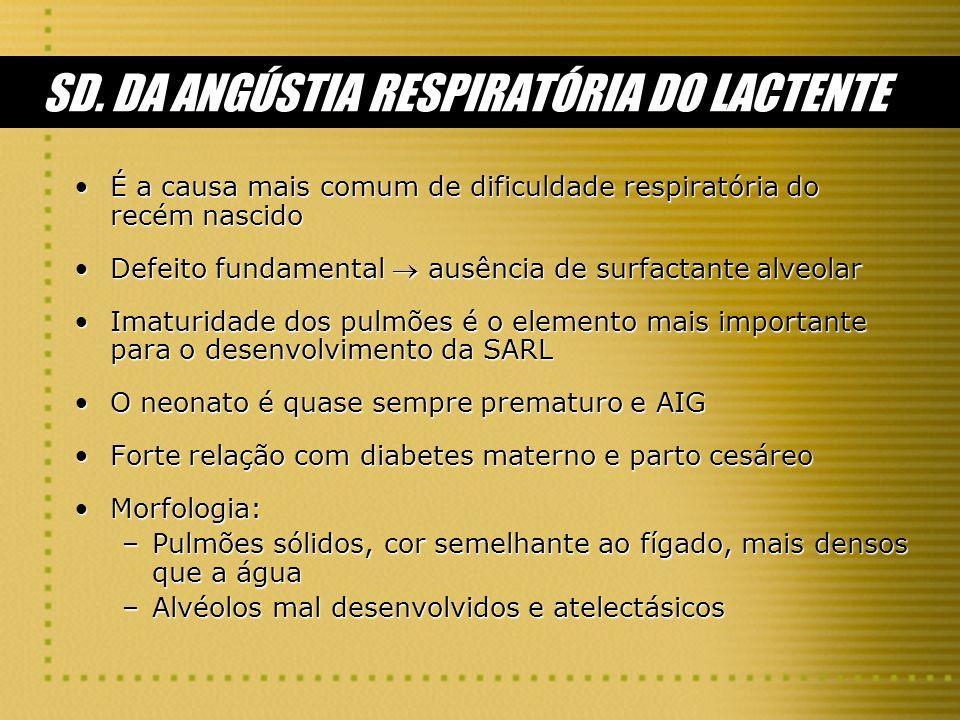 SD. DA ANGÚSTIA RESPIRATÓRIA DO LACTENTE