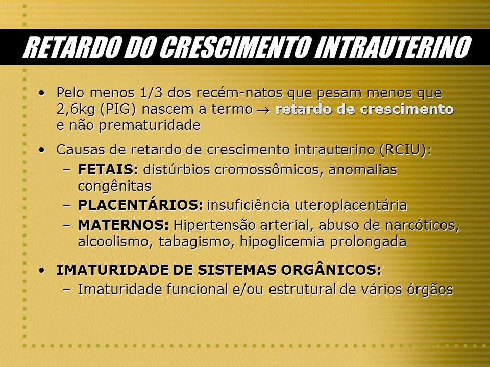 RETARDO DO CRESCIMENTO INTRAUTERINO