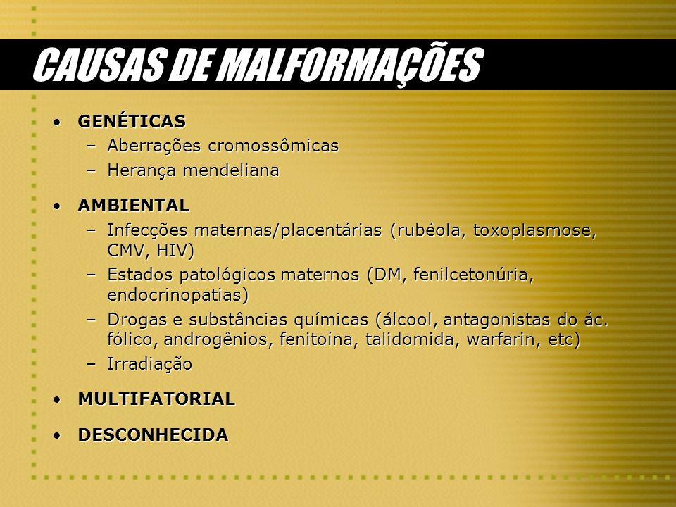 CAUSAS DE MALFORMAÇÕES
