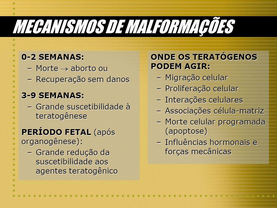 MECANISMOS DE MALFORMAÇÕES