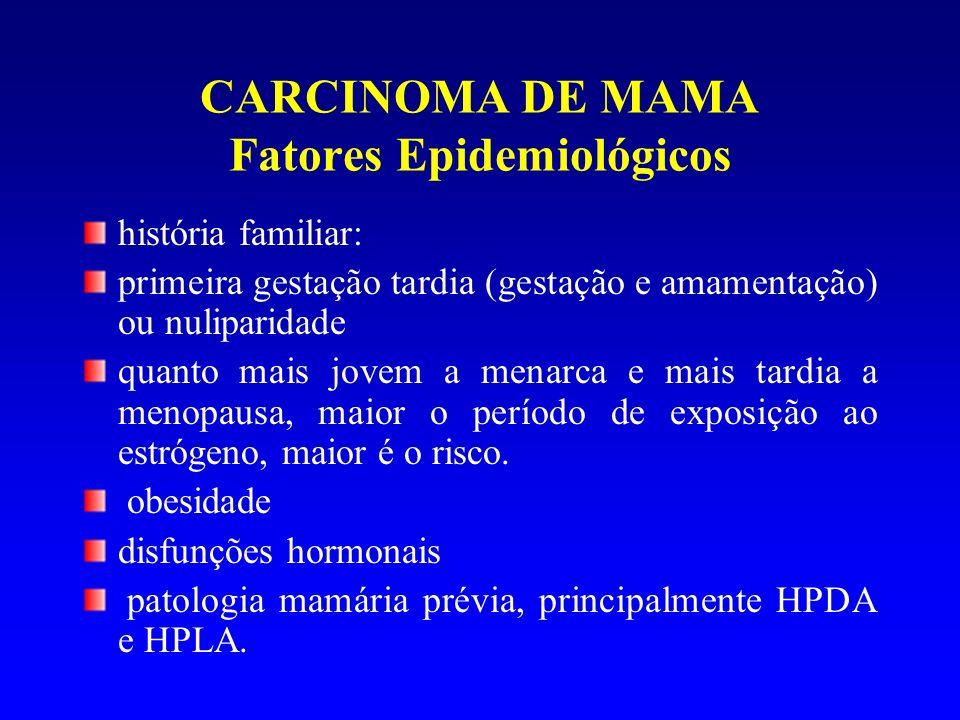 CARCINOMA DE MAMA Fatores Epidemiológicos