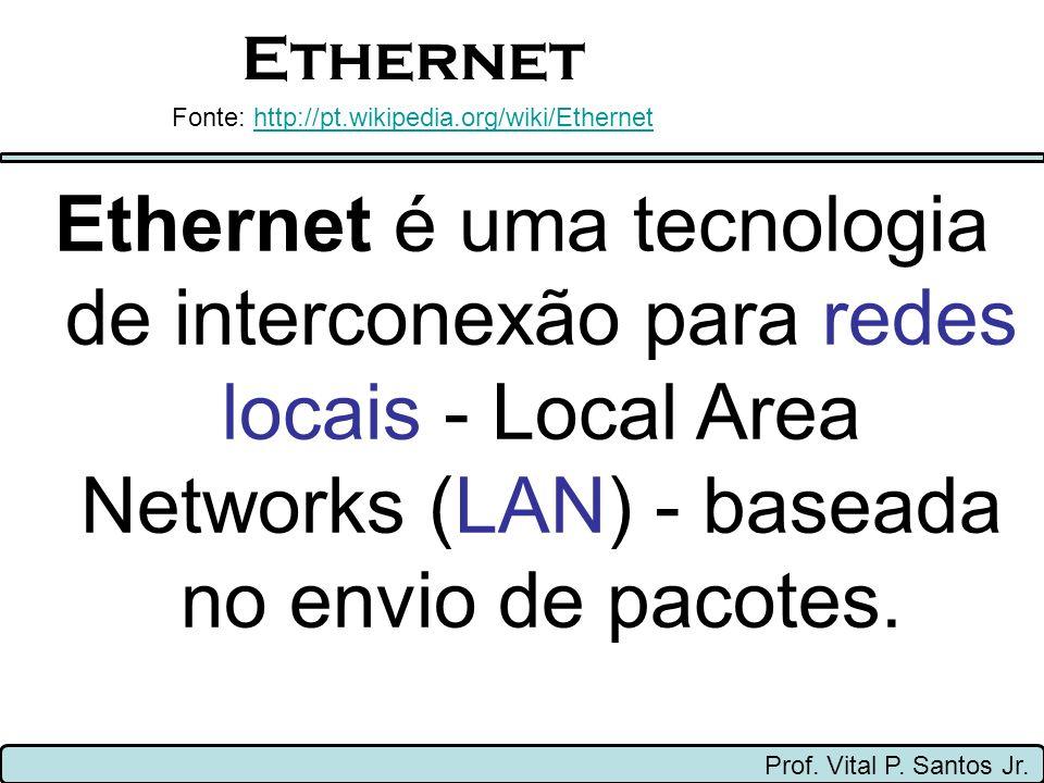 Ethernet Fonte: http://pt.wikipedia.org/wiki/Ethernet