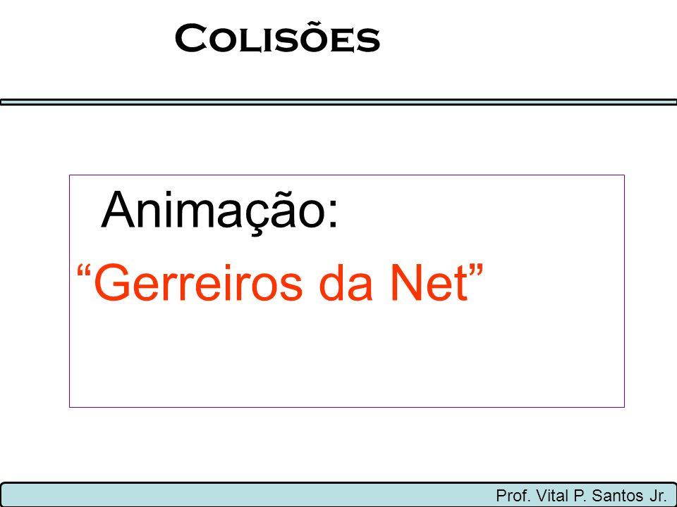 Colisões Animação: Gerreiros da Net Prof. Vital P. Santos Jr.
