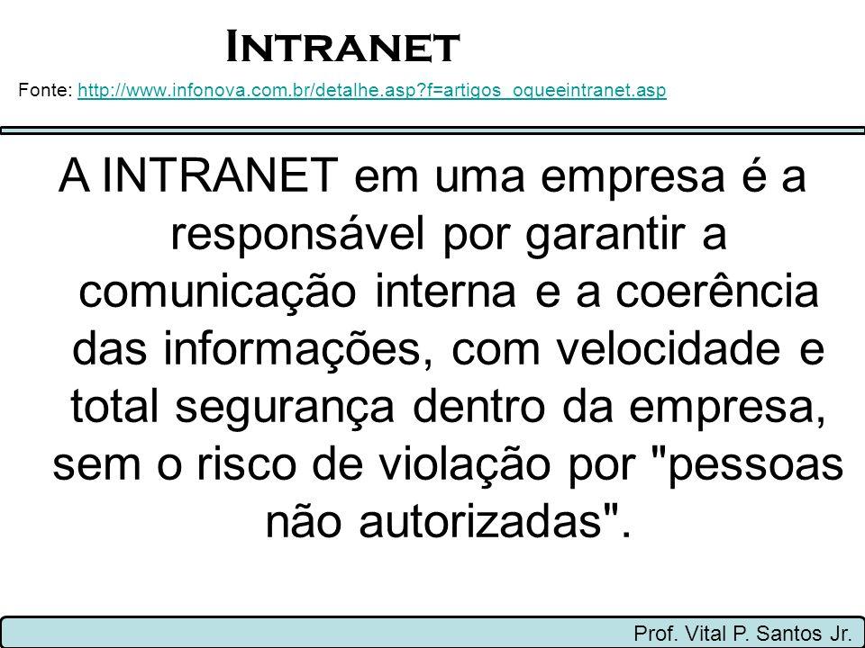 Intranet Fonte: http://www.infonova.com.br/detalhe.asp f=artigos_oqueeintranet.asp.