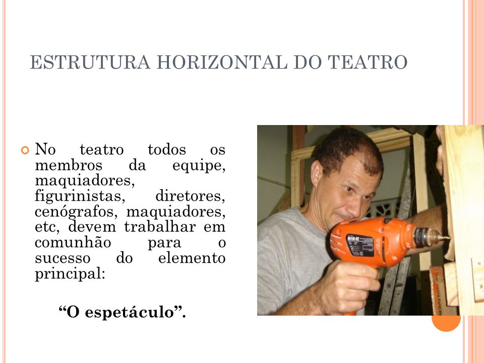 ESTRUTURA HORIZONTAL DO TEATRO