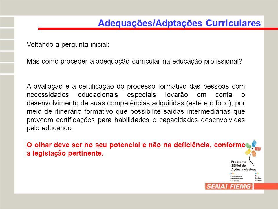 Adequações/Adptações Curriculares