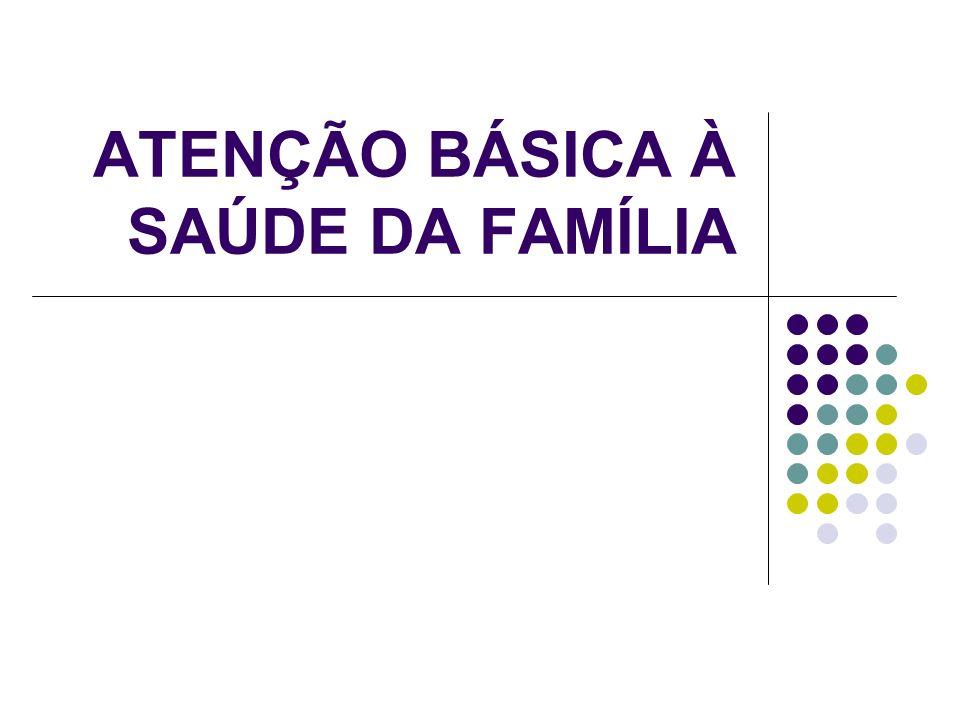 ATENÇÃO BÁSICA À SAÚDE DA FAMÍLIA