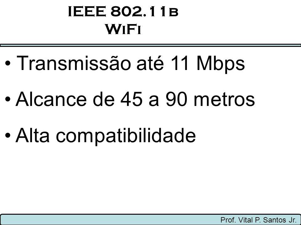 Transmissão até 11 Mbps Alcance de 45 a 90 metros Alta compatibilidade