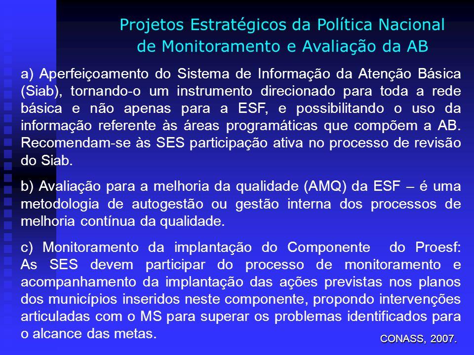 Projetos Estratégicos da Política Nacional