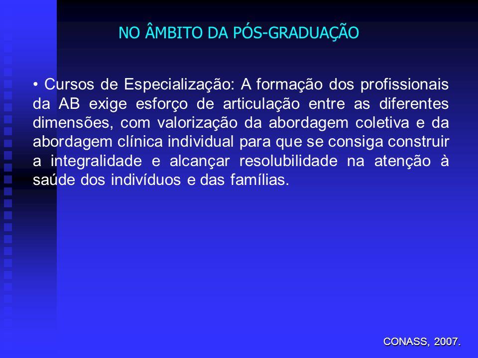 NO ÂMBITO DA PÓS-GRADUAÇÃO
