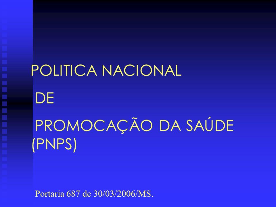 PROMOCAÇÃO DA SAÚDE (PNPS)