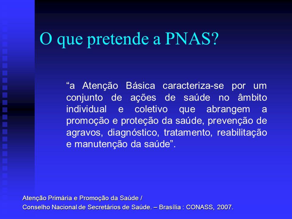 O que pretende a PNAS