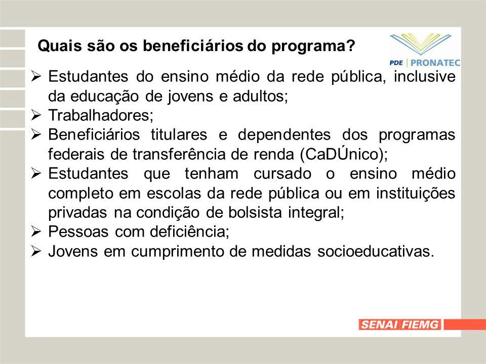 Quais são os beneficiários do programa