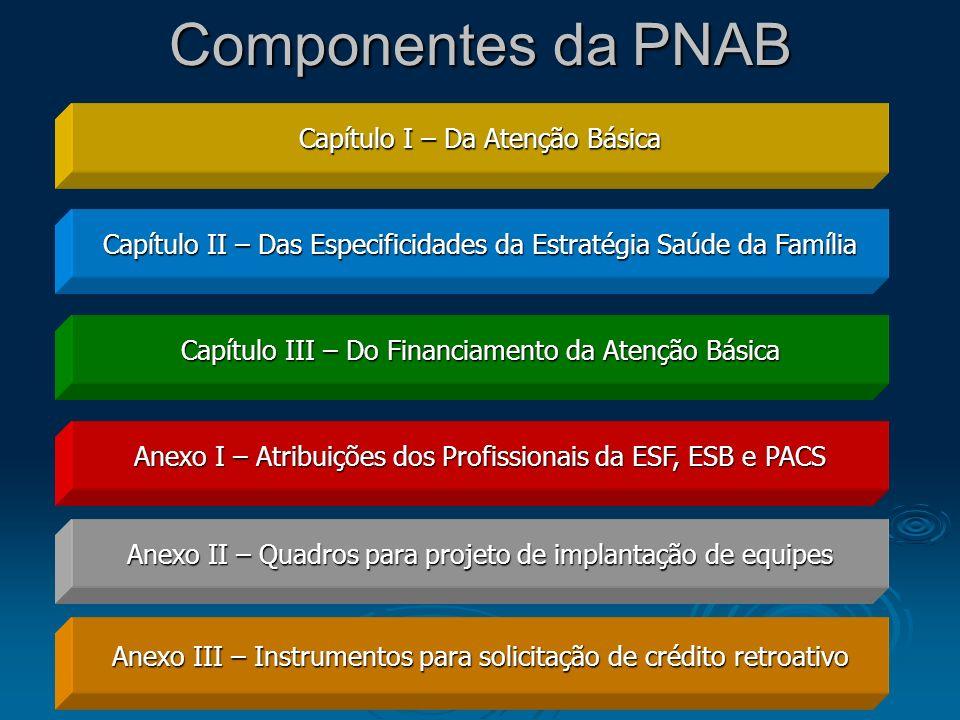 Componentes da PNAB Capítulo I – Da Atenção Básica