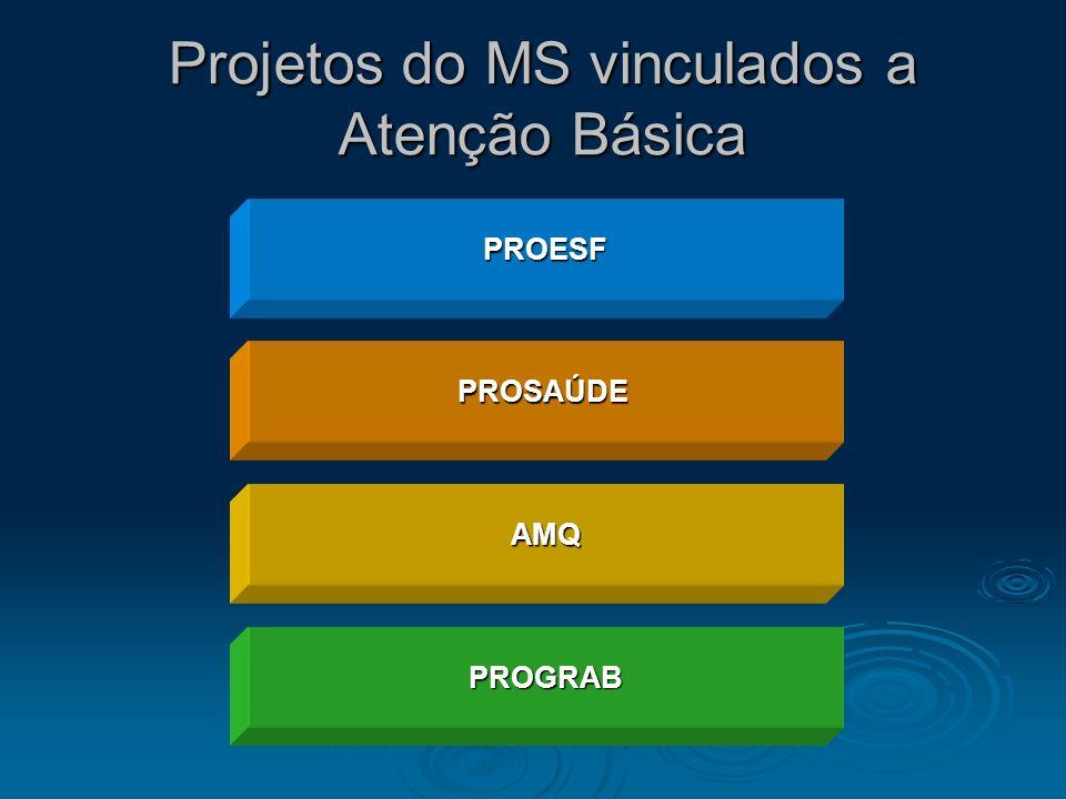 Projetos do MS vinculados a Atenção Básica