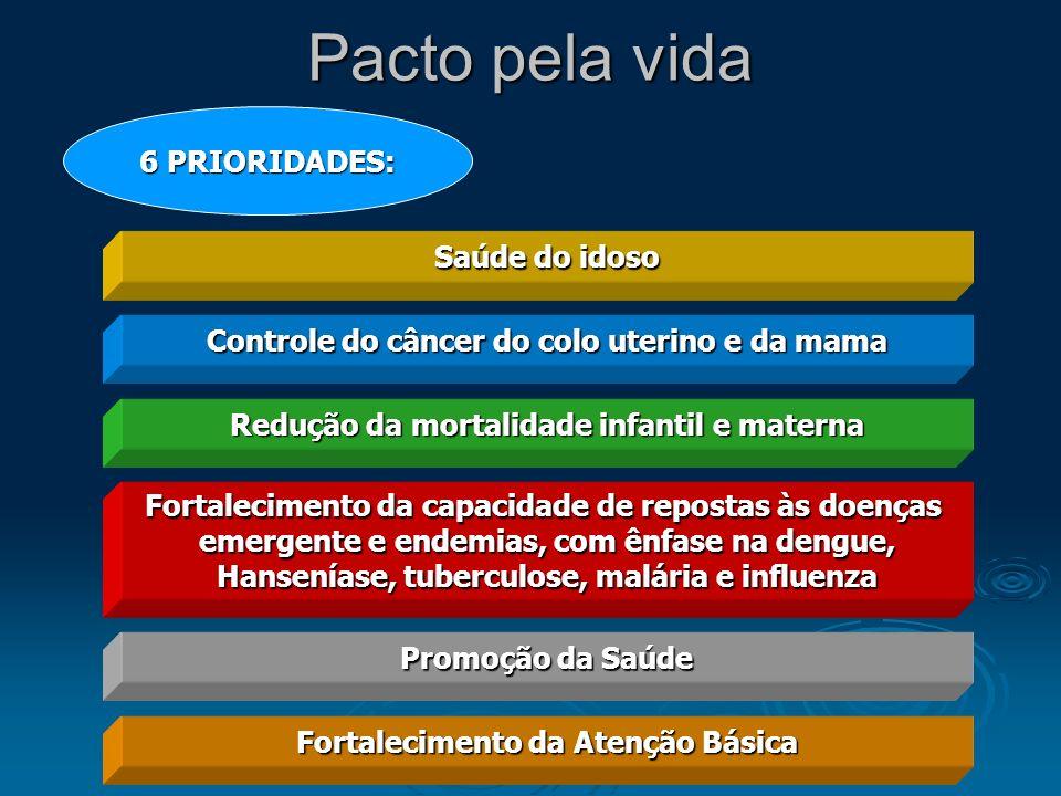 Pacto pela vida 6 PRIORIDADES: Saúde do idoso