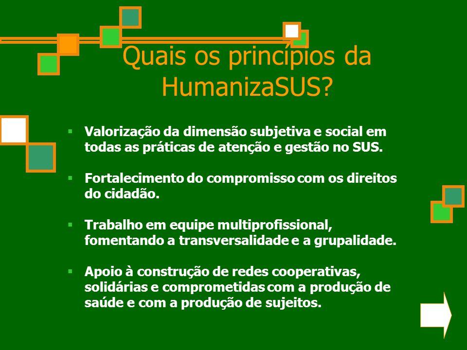Quais os princípios da HumanizaSUS