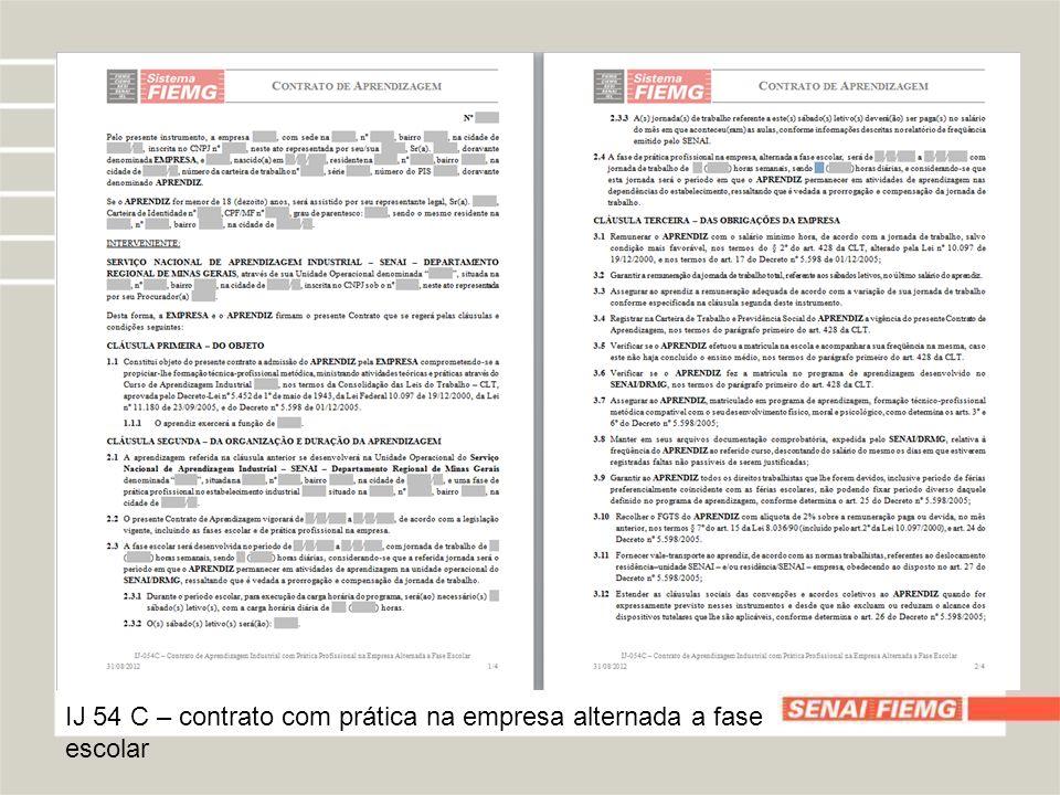 IJ 54 C – contrato com prática na empresa alternada a fase escolar