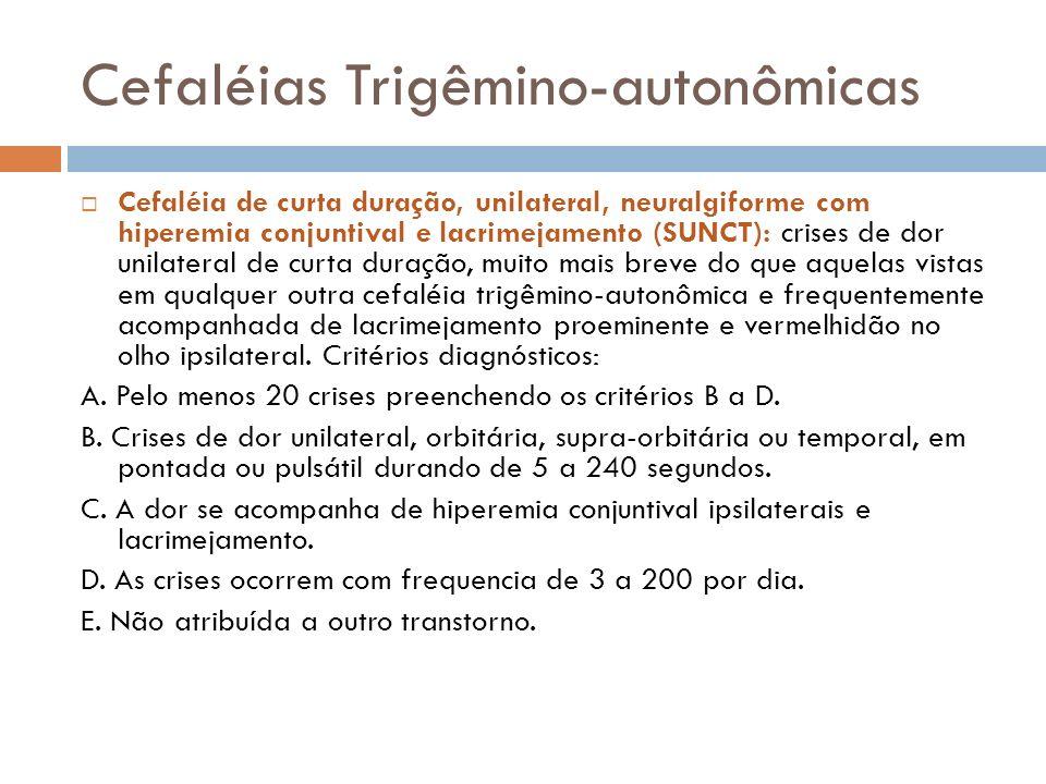 Cefaléias Trigêmino-autonômicas