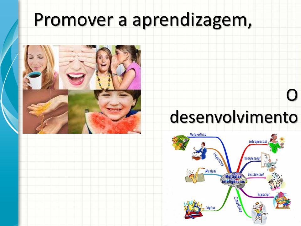Promover a aprendizagem,