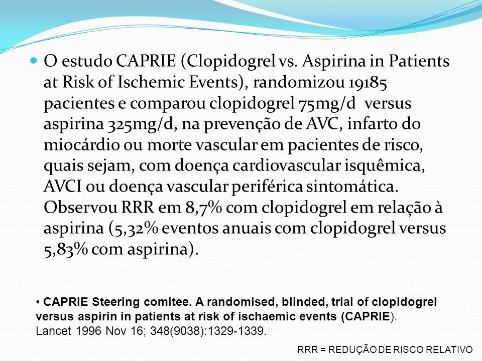 O estudo CAPRIE (Clopidogrel vs