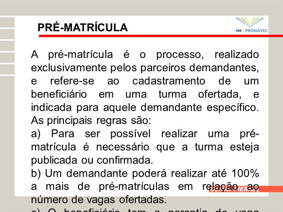 PRÉ-MATRÍCULA