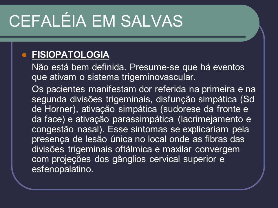 CEFALÉIA EM SALVAS FISIOPATOLOGIA