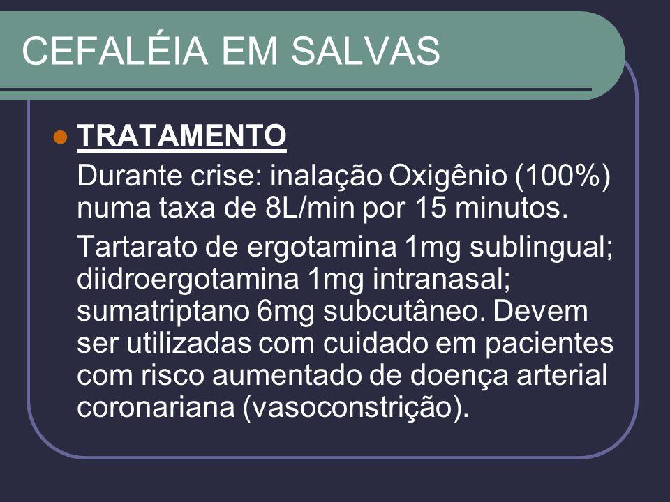 CEFALÉIA EM SALVAS TRATAMENTO
