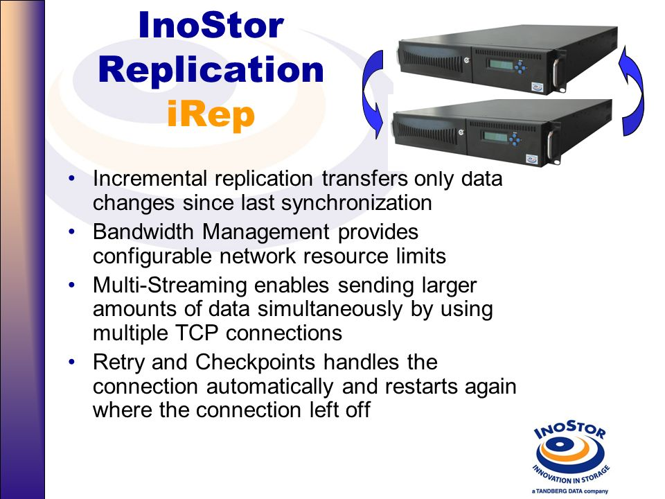 InoStor Replication iRep