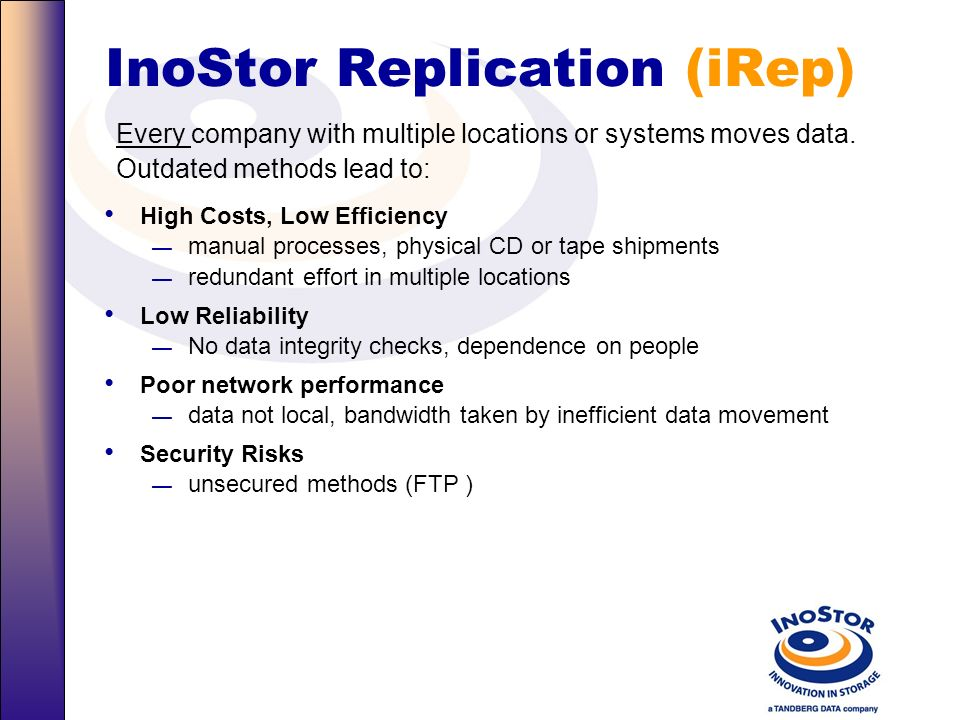 InoStor Replication (iRep)