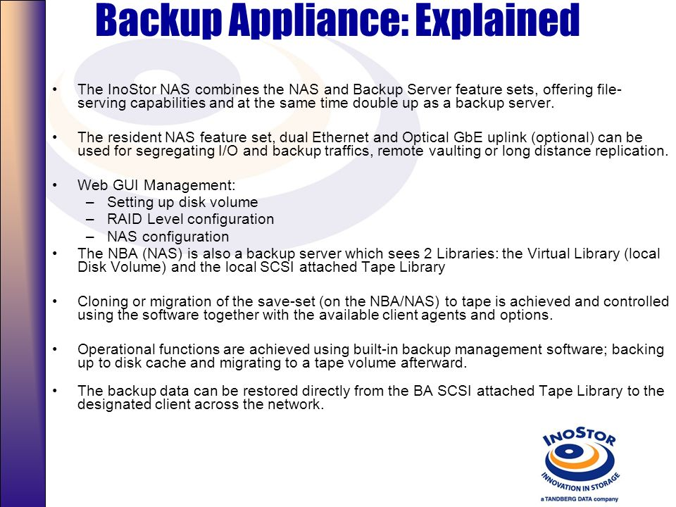 Backup Appliance: Explained
