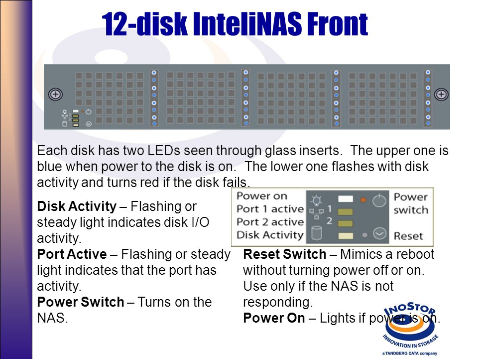 12-disk InteliNAS Front