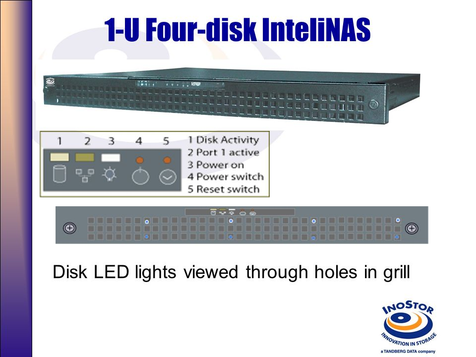 1-U Four-disk InteliNAS