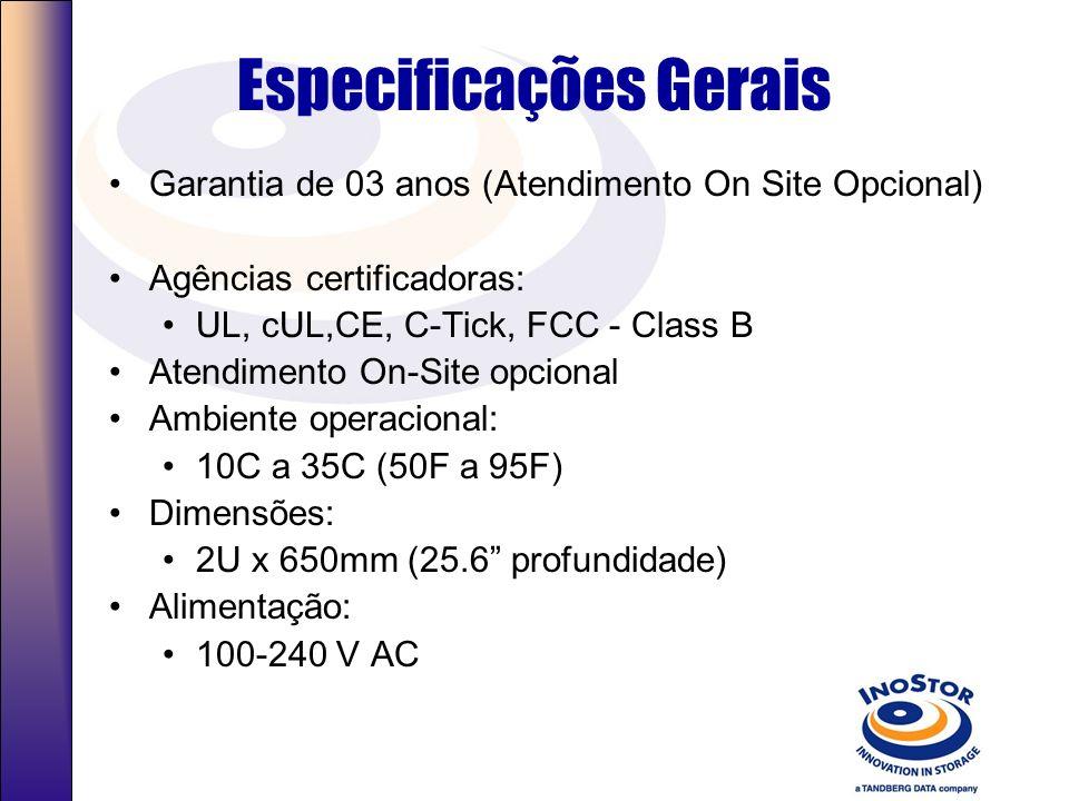 Especificações Gerais