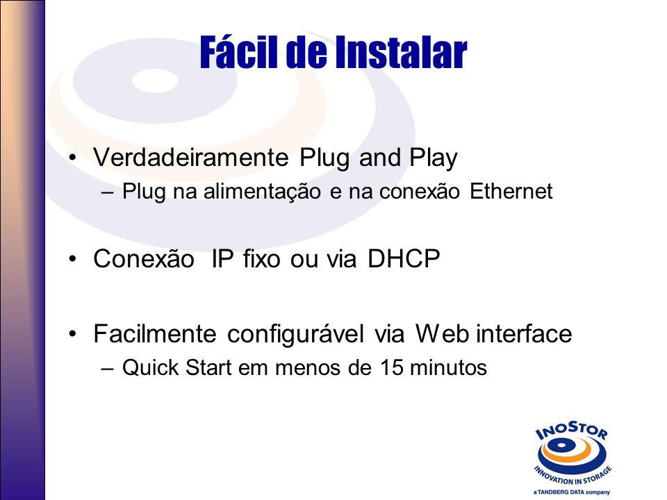 Fácil de Instalar Verdadeiramente Plug and Play