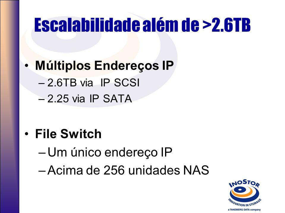 Escalabilidade além de >2.6TB