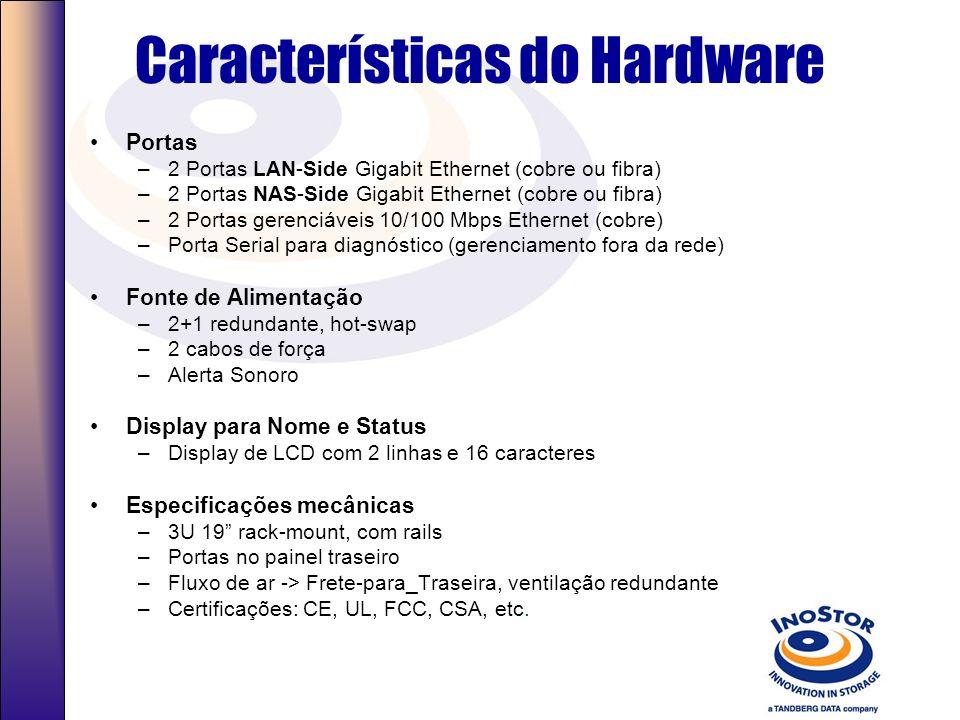 Características do Hardware