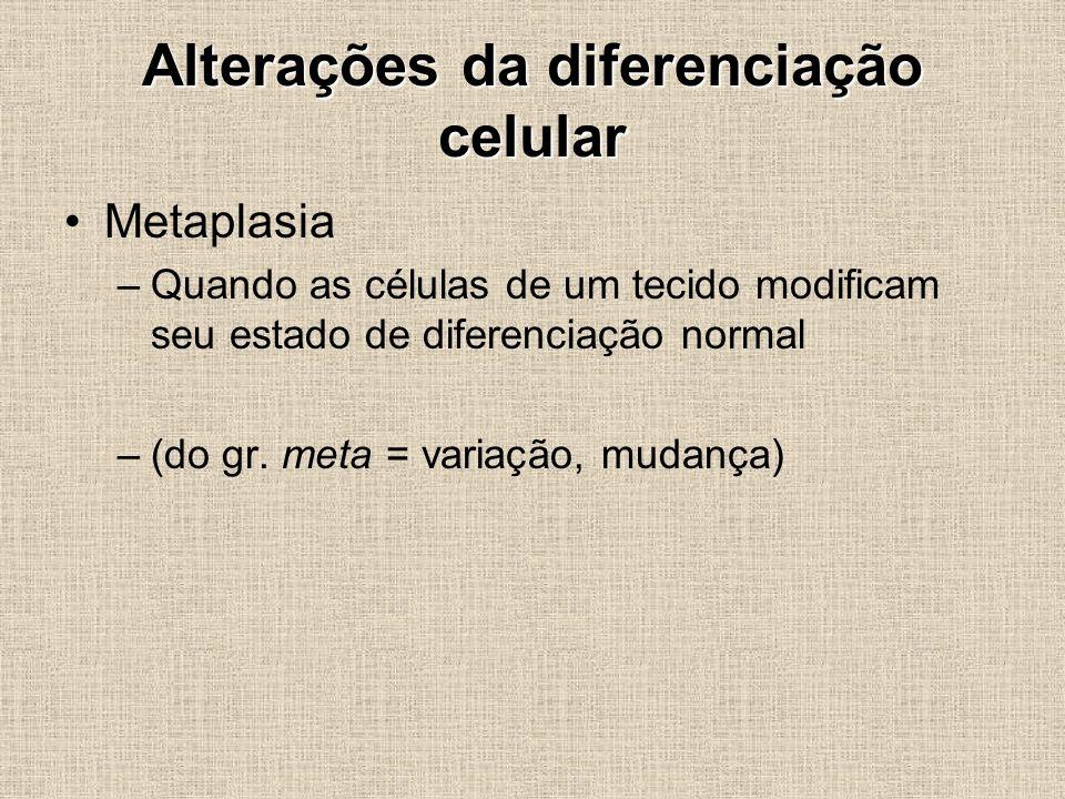 Alterações da diferenciação celular