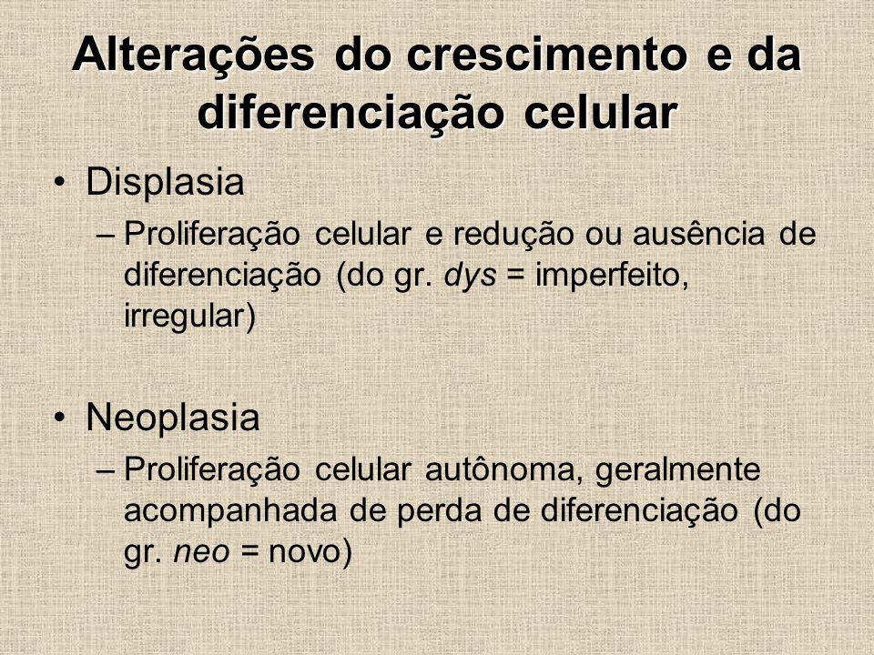 Alterações do crescimento e da diferenciação celular