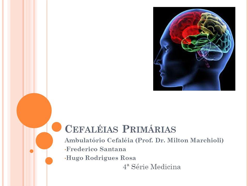 Cefaléias Primárias 4ª Série Medicina