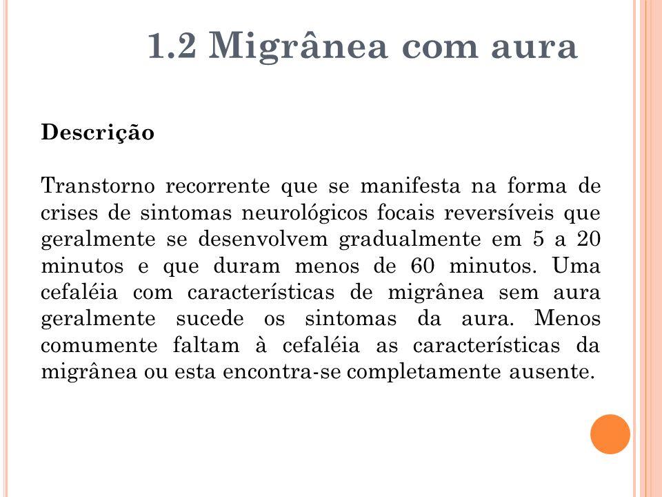 1.2 Migrânea com aura Descrição